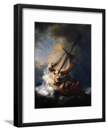 Christ in the Storm on the Lake of Galilee, 1633-Rembrandt van Rijn-Framed Premium Giclee Print