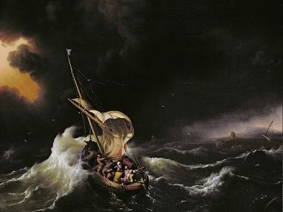 Christ in the Storm on the Sea of Galilee, 1695-Ludolf Backhuysen-Giclee Print