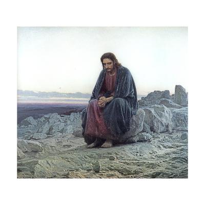 Christ in the Wilderness, 1873-Ivan Nikolaevich Kramskoy-Giclee Print