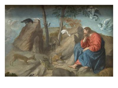 Christ in the Wilderness-Moretto Da Brescia-Art Print