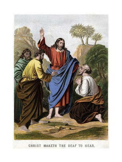 Christ Maketh the Deaf to Hear, 1860-Kronheim & Co-Giclee Print