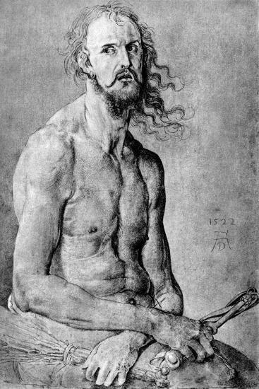 Christ, Man of Sorrow, with Durer?S Features, 1522-Albrecht Durer-Giclee Print