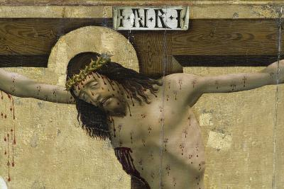 Christ on Cross, Detail from Altarpiece of Prejmer Fortified Church--Giclee Print