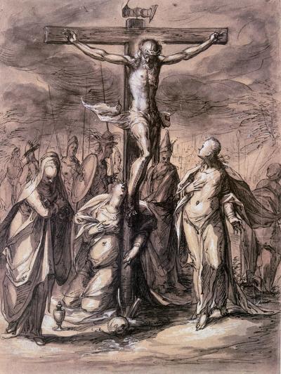 Christ on the Cross, 17th Century-Hermann Weyer-Giclee Print