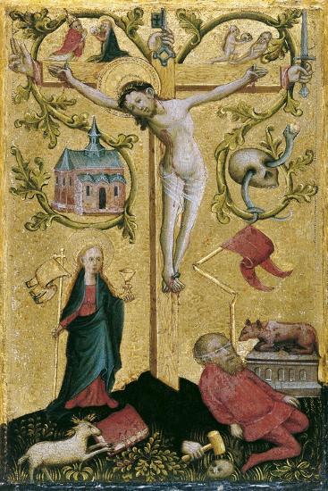 Christ on the Cross as Redemptor Mundi--Giclee Print