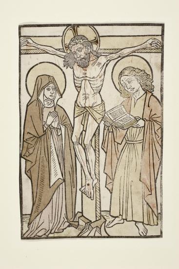 Christ on the Cross Between Mary and Saint John, 1460-70--Giclee Print