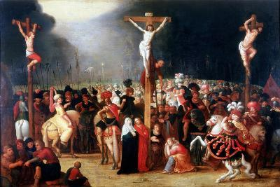 Christ on the Cross Between the Two Thieves, 17th Century-Frans Francken II-Giclee Print