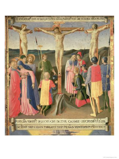 Christ on the Cross Between the Two Thieves-Fra Angelico-Giclee Print
