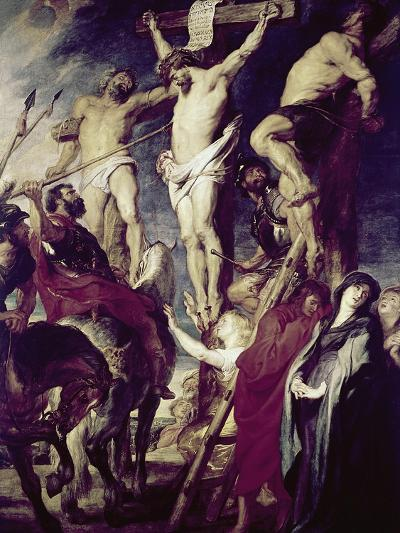 Christ on the Cross Between the Two Thieves-Peter Paul Rubens-Giclee Print