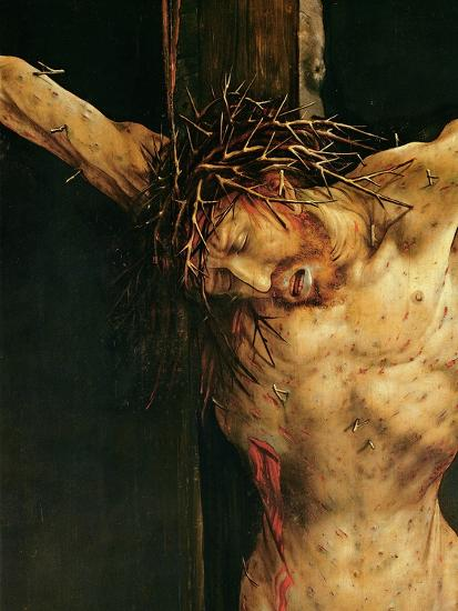 Christ on the Cross, Detail from the Central Crucifixion Panel of the Isenheim Altarpiece,…-Matthias Gr?newald-Giclee Print