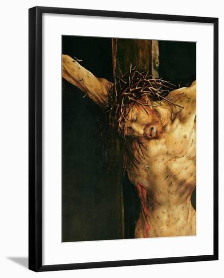 Christ on the Cross, Detail from the Central Crucifixion Panel of the Isenheim Altarpiece,…-Matthias Grünewald-Framed Giclee Print