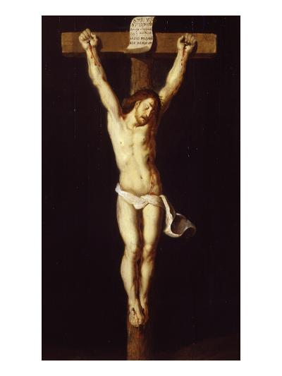 Christ on the Cross, Jansenist Style, after Van Dyck, 17th Century, Gallery of the Golden Age-Flemish School-Giclee Print