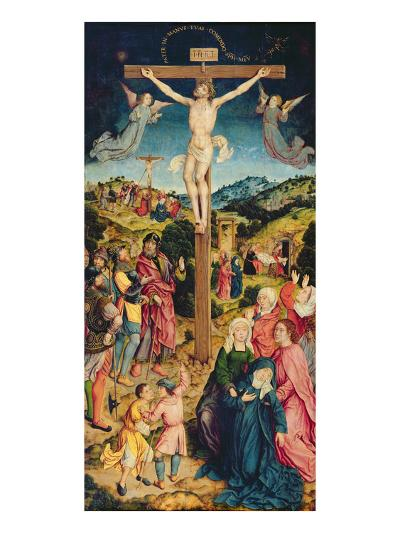 Christ on the Cross (Oil on Panel)-Goossen Weyden-Giclee Print