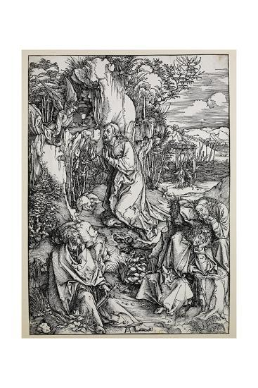 Christ on the Mount of Olives, 1496/99 (Woodcut with Some Old Repairings in Ink)-Albrecht D?rer-Giclee Print