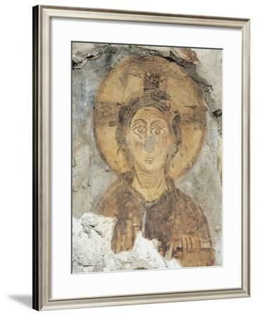 Christ on the Throne, Detail of a Fresco from the Tower of the Monastery of Torba--Framed Photographic Print