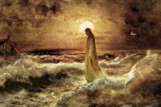 Christ on Water-Jason Bullard-Giclee Print