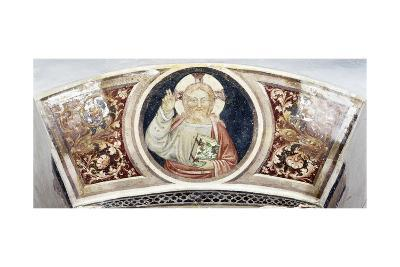 Christ Pantocrator Above Door to Chapel, Visconti Castle, Pavia, Italy--Giclee Print