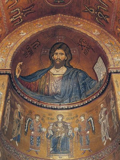 Christ Pantocrator and the Madonna Enthroned with Angels and Apostles, from the Central Apse--Giclee Print