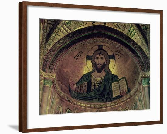Christ Pantocrator, in the Apse, Byzantine, 12th Century--Framed Giclee Print