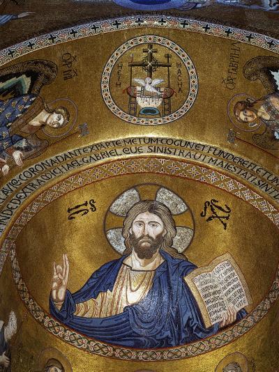 Christ Pantocrator, Palatine chapel, Palazzo dei Normanii or Palazzo Reale, Palermo, Sicily--Photographic Print