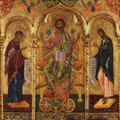 Christ Pantocrator, Virgin and St. John-Onufri Qiprioti-Art Print
