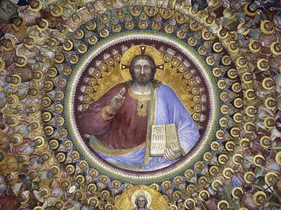 Christ Pantocrator, Virgin Mary, Angels and Elect, Detail from Paradise, 1375-1378-Giusto de' Menabuoi-Giclee Print