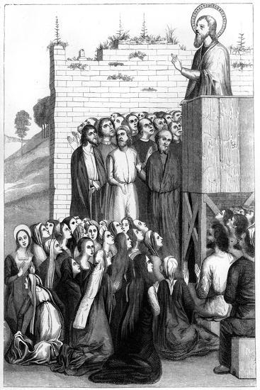 Christ Preaching, 15th Century-A Bisson-Giclee Print