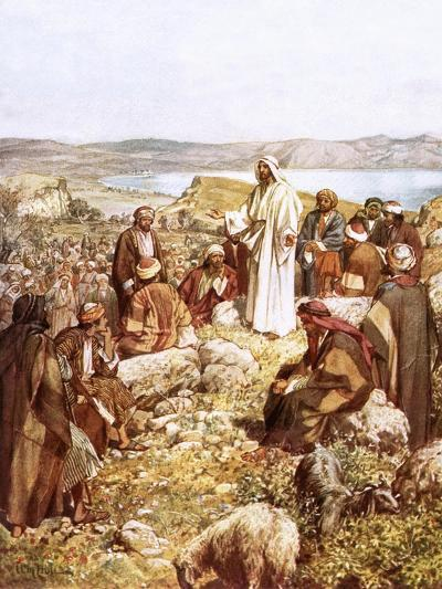 Christ Preaching to This Disciples and Others-William Brassey Hole-Giclee Print