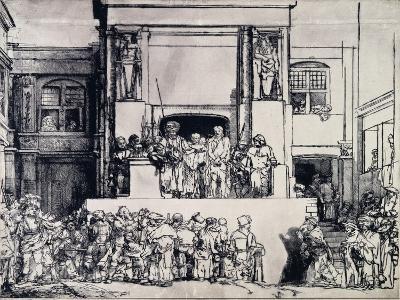 Christ Presented to the People, 1655-Rembrandt van Rijn-Giclee Print