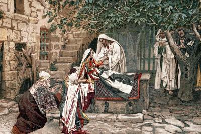 Christ Raising the Daughter of Jairus, Governor of the Synagogue, from the Dead, 1897-James Jacques Joseph Tissot-Giclee Print