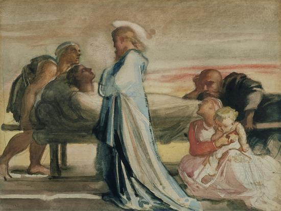 Christ Raising the Dead-Louisa Anne Waterford-Giclee Print