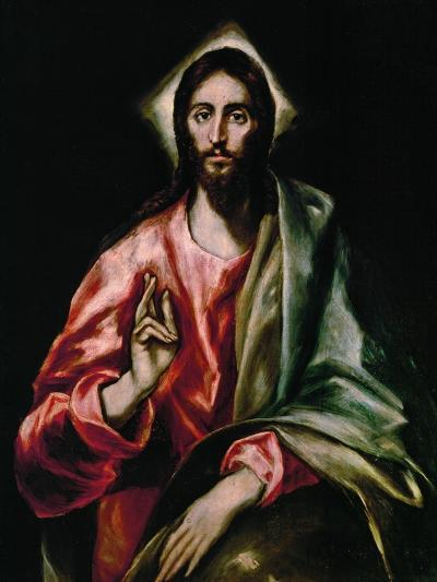 Christ Redeemer, 1610-1614-El Greco-Giclee Print