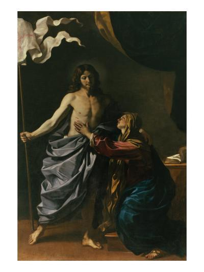 Christ Risen Appears to His Mother, 1629-Guercino (Giovanni Francesco Barbieri)-Giclee Print