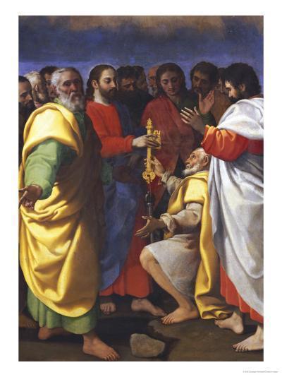 Christ's Charge to Saint Peter-Giuseppe Vermiglio-Giclee Print