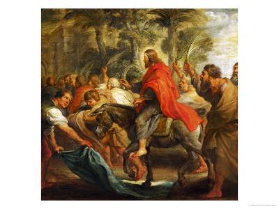 Christ's Entry into Jerusalem, 1632-Peter Paul Rubens-Giclee Print