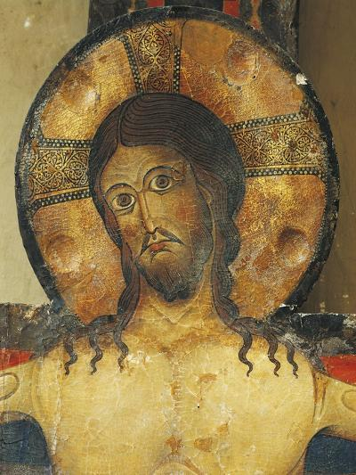 Christ's Face, Detail from Crucifix, 1187-Alberto Sotio-Giclee Print