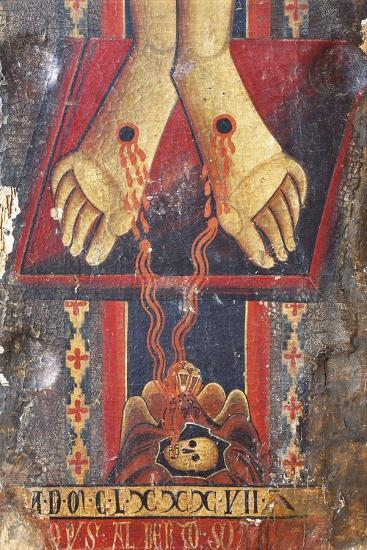 Christ's Feet, Detail from the Crucifix, 1187-Alberto Sotio-Giclee Print