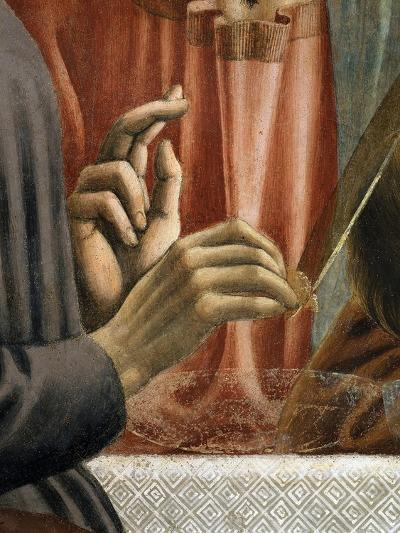 Christ's Hand Blessing, Judas' Hand Holding Bread, from the Last Supper, Fresco C.1444-50 (Detail)-Andrea Del Castagno-Giclee Print