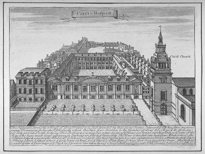 Christ's Hospital, City of London, 1700--Giclee Print
