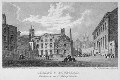 Christ's Hospital, City of London, 1823-James Sargant Storer-Giclee Print