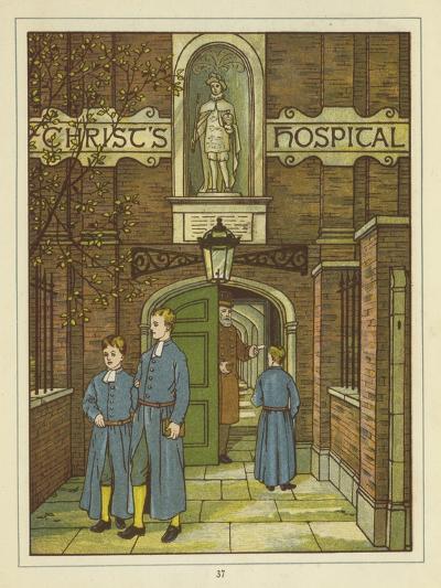 Christ's Hospital in Greyfriars-Thomas Crane-Giclee Print