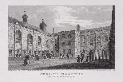 Christ's Hospital, London, 1823-James Sargant Storer-Giclee Print