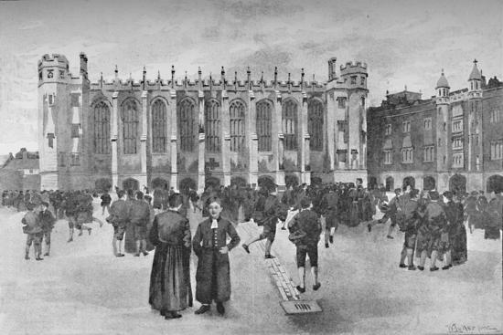 'Christ's Hospital, Newgate Street - Boys in playground', 1891-William Luker-Giclee Print