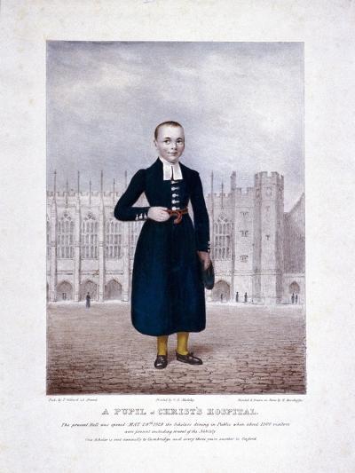 Christ's Hospital Pupil, London, 1829-Henry Kirchhoffer-Giclee Print