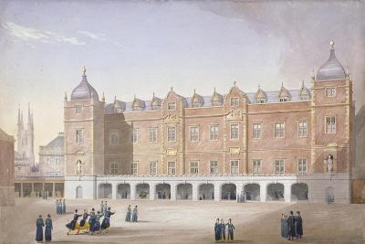 Christ's Hospital School, Newgate Street, City of London, 1831-John Shaw-Giclee Print