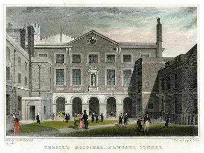 Christ's Hospital School, Newgate Street, City of London, 1831-W Wallis-Giclee Print