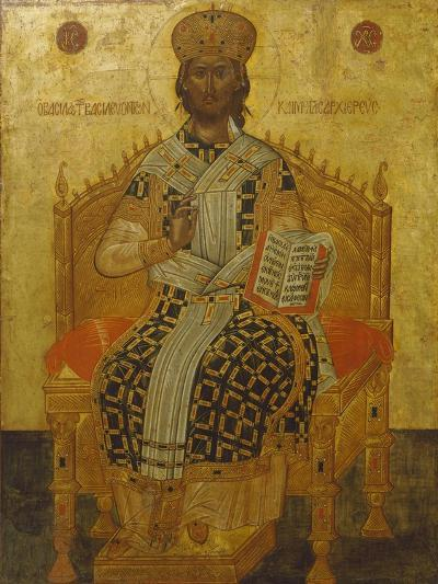 Christ Seated on the Throne, Icon--Giclee Print