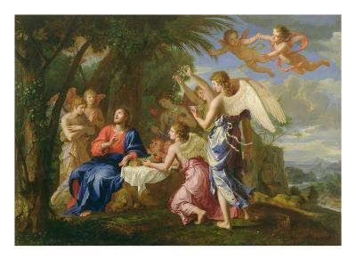Christ Served by the Angels, c.1650-Jacques Stella-Giclee Print