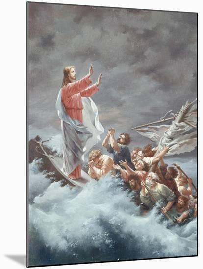 Christ Stilling the Tempest-Christian W^e^ Dietrich-Mounted Giclee Print