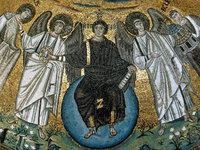 Christ Surrounded by Angels, St. Vitalis and Bishop Ecclesius. Apse. 6Th. Ravenna. Italy--Giclee Print